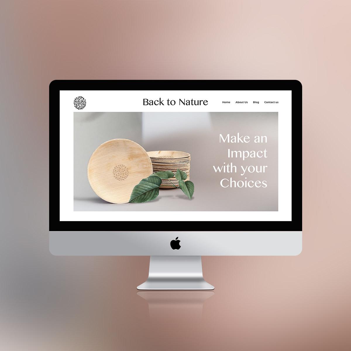 Website design for back to nature
