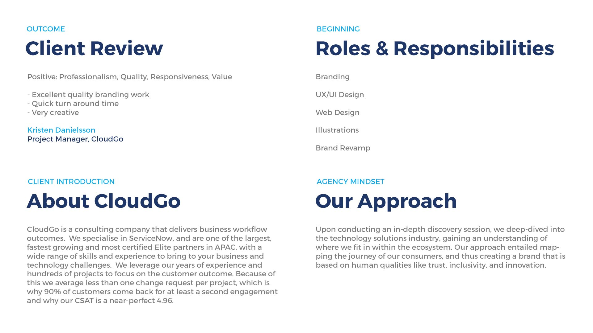 Cloud Go Client Agency Roles Responsibilities